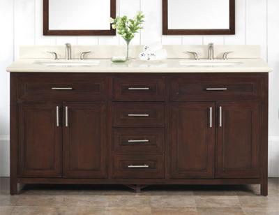Double Sinks. Bathroom Sinks  Double Trouble